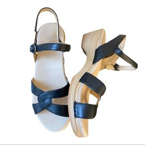 Dansko New Women's Karmen Sandal Leather Black size 38